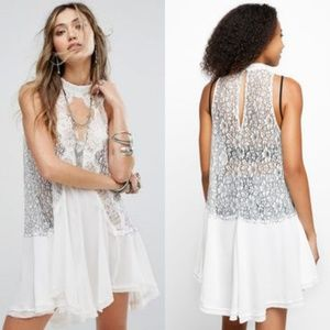 NWT Free People Tell Tale Lace Sleeveless Tunic